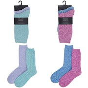 Ladies 2pk Soft Feel Socks (size Uk4-7) (SK503)